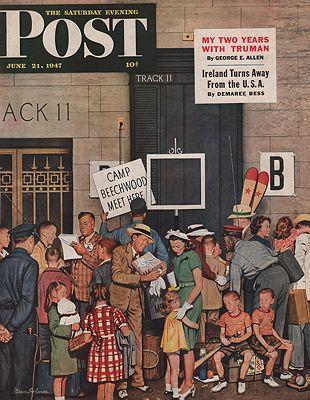 ORIG VINTAGE MAGAZINE COVER/ SATURDAY EVENING POST - JUNE 21 1947Dohanos (Illust.), Stevan, Illust. by: Stevan  Dohanos - Product Image