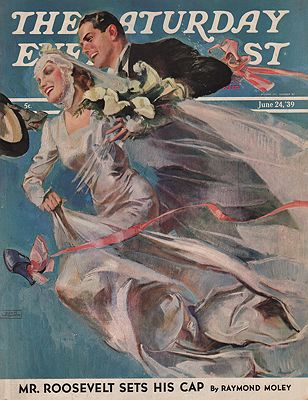 ORIG VINTAGE MAGAZINE COVER/ SATURDAY EVENING POST - JUNE 24 1939LaGatta (Illust.), John, Illust. by: John  LaGatta - Product Image