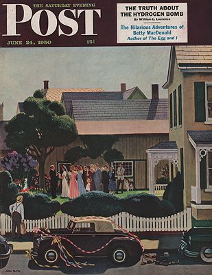 ORIG VINTAGE MAGAZINE COVER/ SATURDAY EVENING POST - JUNE 24 1950Falter (Illust.), John, Illust. by: John  Falter - Product Image