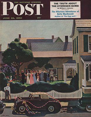 ORIG VINTAGE MAGAZINE COVER/ SATURDAY EVENING POST - JUNE 24 1950Falter (Illust.), John, Illust. by: John  Falter - Product Image