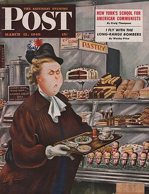 ORIG VINTAGE MAGAZINE COVER/ SATURDAY EVENING POST - MARCH 12 1949Alajalov (Illust.), Constantin, Illust. by: Constantin  Alajalov - Product Image