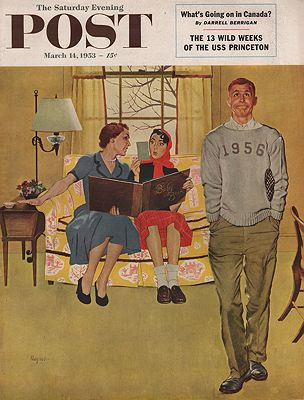 ORIG VINTAGE MAGAZINE COVER/ SATURDAY EVENING POST - MARCH 14 1953Hughes (Illust.), George, Illust. by: George  Hughes - Product Image