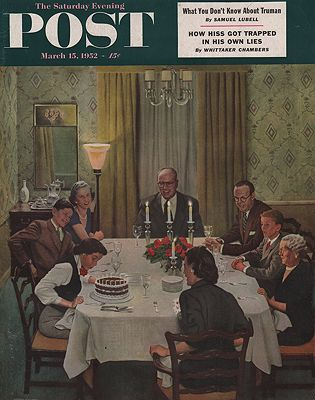 ORIG VINTAGE MAGAZINE COVER/ SATURDAY EVENING POST - MARCH 15 1952Falter (Illust.), John, Illust. by: John  Falter - Product Image
