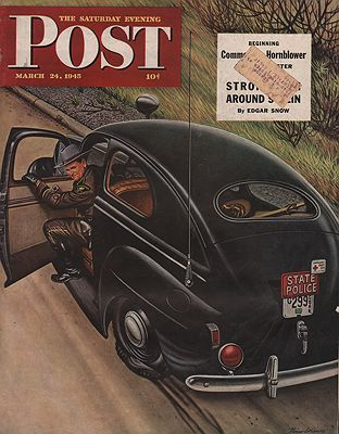 ORIG VINTAGE MAGAZINE COVER/ SATURDAY EVENING POST - MARCH 24 1945Dohanos (Illust.), Stevan, Illust. by: Stevan  Dohanos - Product Image