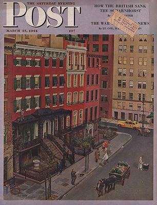 ORIG VINTAGE MAGAZINE COVER/ SATURDAY EVENING POST - MARCH 25 1944Falter (Illust.), John, Illust. by: John  Falter - Product Image