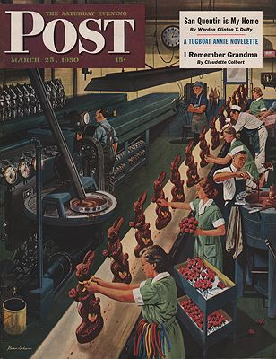 ORIG VINTAGE MAGAZINE COVER/ SATURDAY EVENING POST - MARCH 25 1950Dohanos (Illust.), Stevan, Illust. by: Stevan  Dohanos - Product Image