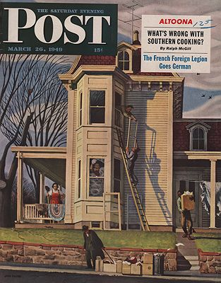ORIG VINTAGE MAGAZINE COVER/ SATURDAY EVENING POST - MARCH 26 1949Falter (Illust.), John, Illust. by: John  Falter - Product Image