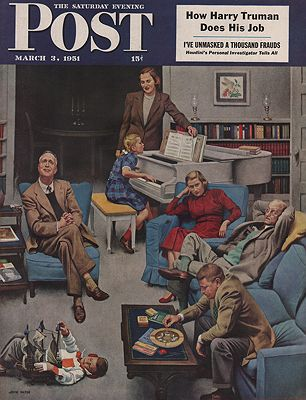 ORIG VINTAGE MAGAZINE COVER/ SATURDAY EVENING POST - MARCH 3 1951Falter (Illust.), John, Illust. by: John   Falter - Product Image