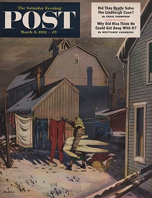 ORIG VINTAGE MAGAZINE COVER/ SATURDAY EVENING POST - MARCH 8 1952Dohanos (Illust.), Stevan, Illust. by: Stevan  Dohanos - Product Image