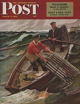 ORIG VINTAGE MAGAZINE COVER/ SATURDAY EVENING POST - MARCH 9 1946Schaeffer (Illust.), Mead, Illust. by: Mead  Schaeffer - Product Image