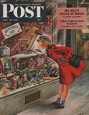 ORIG VINTAGE MAGAZINE COVER/ SATURDAY EVENING POST - MAY 10 1947Alajalov (Illust.), Constantin, Illust. by: Constantin  Alajalov - Product Image
