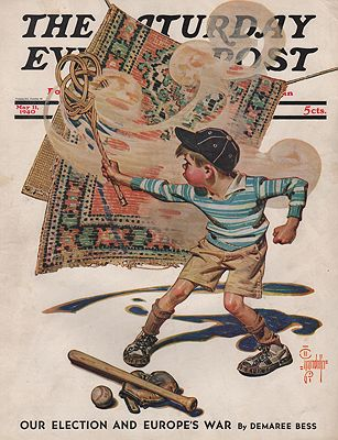 ORIG VINTAGE MAGAZINE COVER/  SATURDAY EVENING POST - MAY 11 1940Leyendecker (Illust.), J.C., Illust. by: J.C.  Leyendecker - Product Image