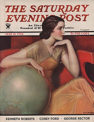 ORIG VINTAGE MAGAZINE COVER/ SATURDAY EVENING POST - MAY 12 1934Benda (Illust.), W.T., Illust. by: W.T.  Benda - Product Image