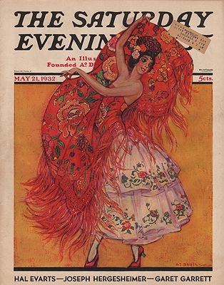 ORIG VINTAGE MAGAZINE COVER/ SATURDAY EVENING POST - MAY 21 1932Soulen (Illust.), H.j., Illust. by: H.J.  Soulen - Product Image