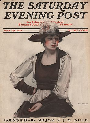 ORIG VINTAGE MAGAZINE COVER/ SATURDAY EVENING POST - MAY 25 1918McMein (Illust.), Neysa, Illust. by: Neysa  McMein - Product Image