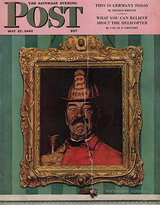ORIG VINTAGE MAGAZINE COVER/ SATURDAY EVENING POST - MAY 27 1944Rockwell (Illust.), Norman, Illust. by: Norman  Rockwell - Product Image