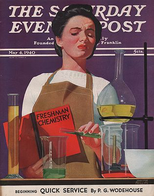 ORIG VINTAGE MAGAZINE COVER/ SATURDAY EVENING POST - MAY 4 1940Phillips (Illust.), John Hyde, Illust. by: John Hyde  Phillips - Product Image