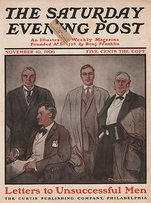 ORIG VINTAGE MAGAZINE COVER/ SATURDAY EVENING POST - NOVEMBER 10 1906Gruger (Illust.), F.R., Illust. by: F.R.  Gruger - Product Image