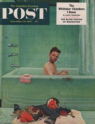 ORIG VINTAGE MAGAZINE COVER/ SATURDAY EVENING POST - NOVEMBER 15 1952Clymer (Illust.), John, Illust. by: John  Clymer - Product Image