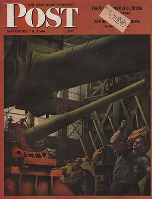 ORIG VINTAGE MAGAZINE COVER/ SATURDAY EVENING POST - NOVEMBER 18 1944Riggs (Illust.), Robert, Illust. by: Robert  Riggs - Product Image