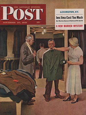 ORIG VINTAGE MAGAZINE COVER/ SATURDAY EVENING POST - NOVEMBER 20 1948Falter (Illust.), John, Illust. by: John   Falter - Product Image