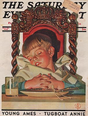 ORIG VINTAGE MAGAZINE COVER/ SATURDAY EVENING POST - NOVEMBER 26 1938Leyendecker (Illust.), J.C., Illust. by: J.C.  Leyendecker - Product Image