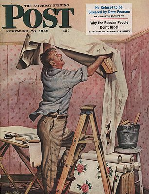 ORIG VINTAGE MAGAZINE COVER/ SATURDAY EVENING POST - NOVEMBER 26 1949Dohanos (Illust.), Stevan, Illust. by: Stevan  Dohanos - Product Image