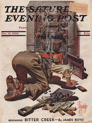 ORIG VINTAGE MAGAZINE COVER/ SATURDAY EVENING POST - OCTOBER 15 1938Leyendecker (Illust.), J.C., Illust. by: J.C.  Leyendecker - Product Image