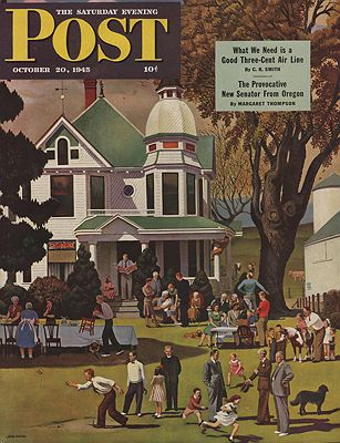 ORIG VINTAGE MAGAZINE COVER/ SATURDAY EVENING POST - OCTOBER 20 1945Falter (Illust.), John, Illust. by: John  Falter - Product Image