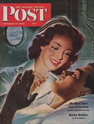 ORIG VINTAGE MAGAZINE COVER/ SATURDAY EVENING POST - OCTOBER 23 1943Whitcomb (Illust.), Jon, Illust. by: Jon  Whitcomb - Product Image