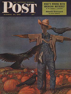 ORIG VINTAGE MAGAZINE COVER/ SATURDAY EVENING POST - OCTOBER 26 1946Atherton (Illust.), John, Illust. by: John  Atherton - Product Image