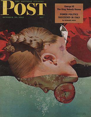 ORIG VINTAGE MAGAZINE COVER - SATURDAY EVENING POST - OCTOBER 30 1943Phillips (Illust.), John Hyde, Illust. by: John Hyde  Phillips - Product Image