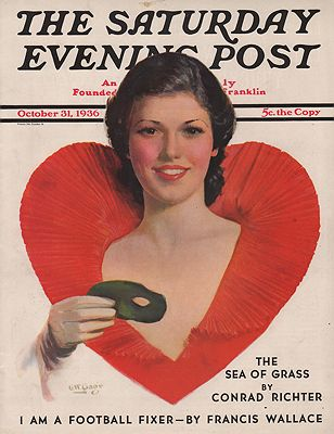 ORIG VINTAGE MAGAZINE COVER/ SATURDAY EVENING POST - OCTOBER 31 1936Gage (Illust.), George W., Illust. by: George W.  Gage - Product Image