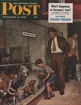ORIG VINTAGE MAGAZINE COVER/ SATURDAY EVENING POST - SEPTEMBER 17 1949Sewell (Illust.), Amos, Illust. by: Amos  Sewell - Product Image