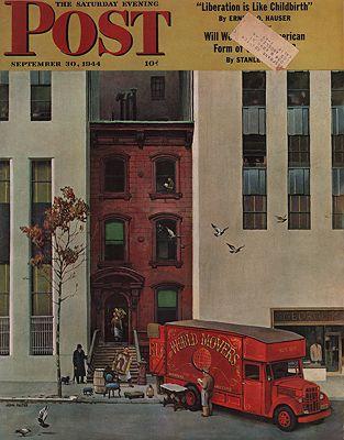 ORIG VINTAGE MAGAZINE COVER/ SATURDAY EVENING POST - SEPTEMBER 30 1944Falter (Illust.), John, Illust. by: John  Falter - Product Image