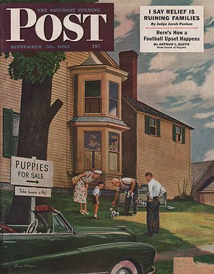 ORIG VINTAGE MAGAZINE COVER/ SATURDAY EVENING POST -SEPTEMBER 30 1950Dohanos (Illust.), Stevan, Illust. by: Stevan  Dohanos - Product Image