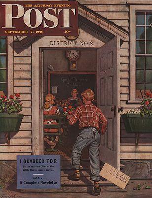 ORIG VINTAGE MAGAZINE COVER/ SATURDAY EVENING POST - SEPTEMBER 7 1946Dohanos (Illust.), Stevan, Illust. by: Stevan  Dohanos - Product Image