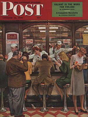 ORIG VINTAGE MAGAZINE COVER/ SATURDAY EVENONG POST - OCTOBER 12 1946Falter (Illust.), John, Illust. by: John  Falter - Product Image