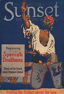 ORIG VINTAGE MAGAZINE COVER/ SUNSET - NOVEMBER 1917Schmidt (Illust.), Harold Von, Illust. by: Harold Von  Schmidt - Product Image