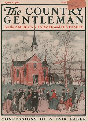 ORIG VINTAGE MAGAZINE COVER/ THE COUNTRY GENTLEMAN - APRIL 8 1922Preston (Illust.), James, Illust. by: James  Preston - Product Image