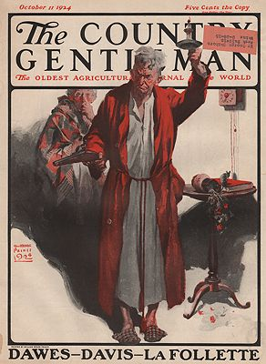 ORIG VINTAGE MAGAZINE COVER/ THE COUNTRY GENTLEMAN - OCTOBER 11 1924Prince (Illust.), William Meade, Illust. by: William Meade  Prince - Product Image