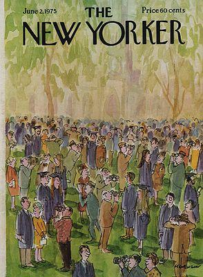 ORIG VINTAGE MAGAZINE COVER/ THE NEW YORKER - JUNE 2 1975illustrator- James  Stevenson - Product Image