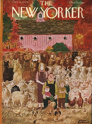 ORIG VINTAGE MAGAZINE COVER/ THE NEW YORKER - OCTOBER 8 1979illustrator- Charles  Addams - Product Image