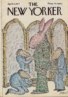 ORIG VINTAGE MAGAZINE COVER/ THE NEW YORKER - APRIL 11 1977Koren (Illust.), Ed, Illust. by: Ed  Koren - Product Image