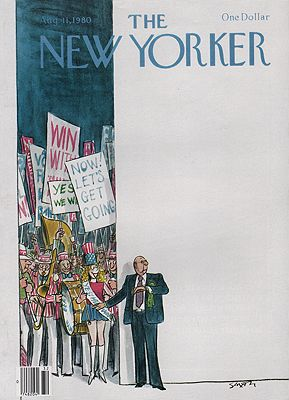 ORIG VINTAGE MAGAZINE COVER/ THE NEW YORKER - AUGUST 11 1980Saxon (Illust.), Charles, Illust. by: Charles  Saxon - Product Image