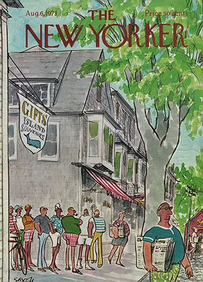 ORIG VINTAGE MAGAZINE COVER - THE NEW YORKER - AUGUST 6 1973Saxon (Illust.), Charles, Illust. by: Charles  Saxon - Product Image