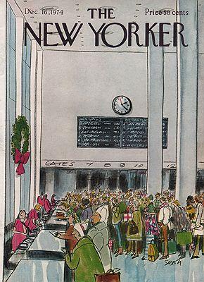 ORIG VINTAGE MAGAZINE COVER/ THE NEW YORKER - DECEMBER 16 1974Saxon (Illust.), Charles, Illust. by: Charles  Saxon - Product Image