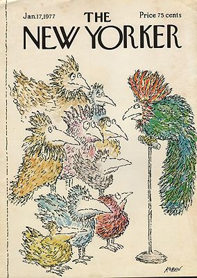 ORIG VINTAGE MAGAZINE COVER/ THE NEW YORKER - JANUARY 17 1977Koren (Illust.), Ed, Illust. by: Ed  Koren - Product Image