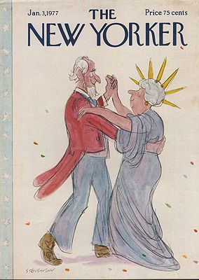 ORIG VINTAGE MAGAZINE COVER/ THE NEW YORKER - JANUARY 3 1977Stevenson (Illust.), James, Illust. by: James  Stevenson - Product Image