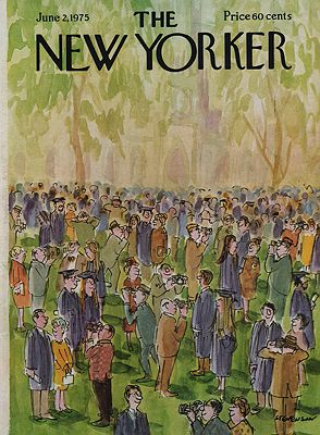 ORIG VINTAGE MAGAZINE COVER/ THE NEW YORKER - JUNE 2 1975Stevenson (Illust.), James, Illust. by: James  Stevenson - Product Image